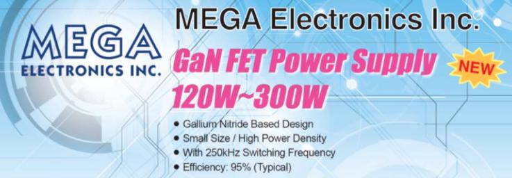 MEGA Electronics announces launch of GaN FET power supplies